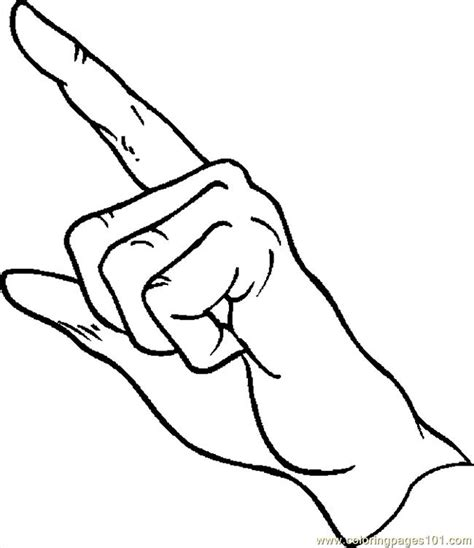 coloring pages finger pointing 092 peoples gt body free