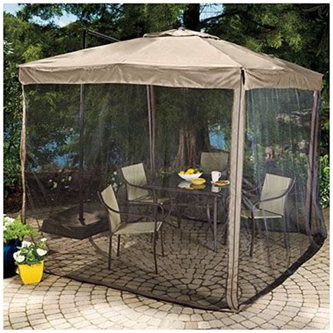 160 Wilson Fisher 174 Offset 8 5 Square Umbrella With Patio Umbrella With Netting