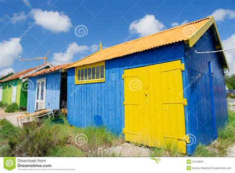Colorful Cabins by Colorful Wooden Cabins Stock Image Image 31518691