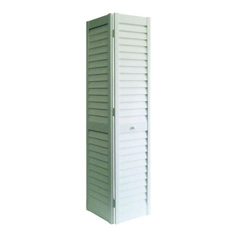 Bi Fold Louvered Closet Doors Home Fashion Technologies 36 In X 80 In 3 In Louver Louver White Composite Interior Bi Fold