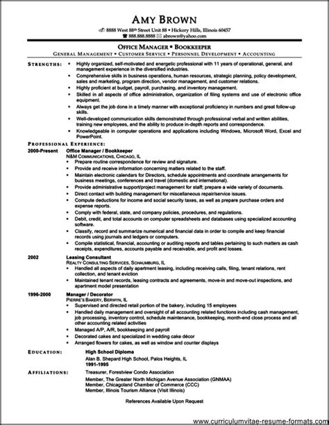 resume format for admin manager administrative office manager resume free sles