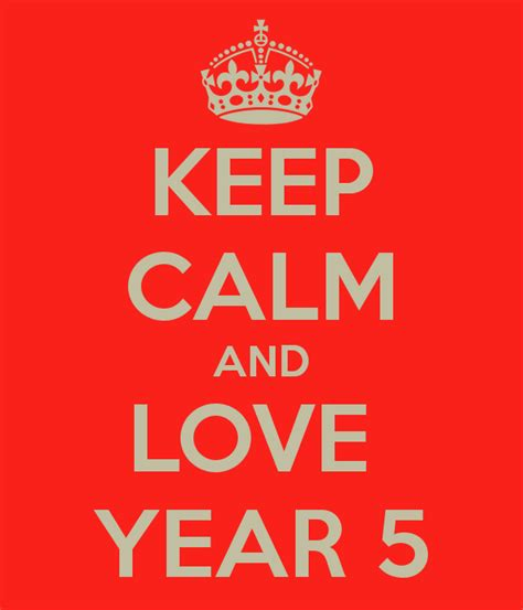5 years in years keep calm and year 5 poster zainab keep calm o matic
