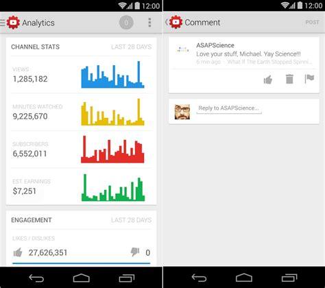 download youtube creator studio youtube creator studio f 252 r android ios statistik app