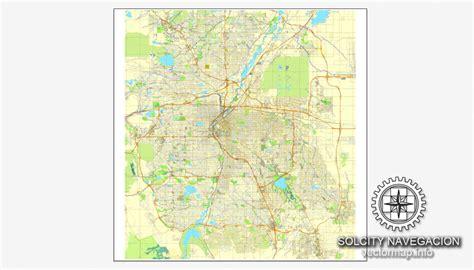 us map denver colorado denver colorado us printable vector city plan map