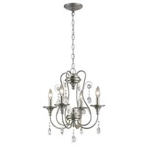 4 light chandelier portfolio opula 4 light brushed nickel chandelier