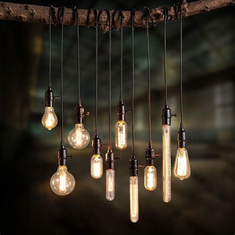 Exposed Light Bulb L exposed bulb and cord add a vintage industrial feel using various edison bulbs you can diy