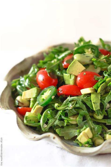 arugula salad  avocados  mediterranean dish
