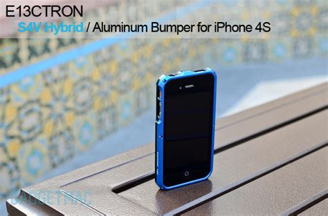Apple Iphone 4 4s Hybrid Metal Aluminium Bumper Leather Back Casing 1 e13ctron s4v hybrid aluminum bumper for iphone 4s review gadgetmac