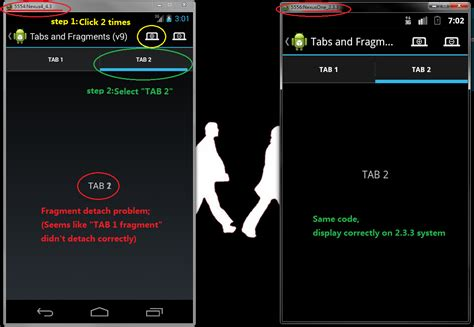 fragment android android fragment from support library doesn t compatible well with 4 3 platform stack overflow