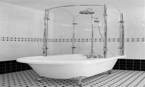 affordable shower rod for clawfoot tub the decoras