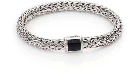 Batu Black Onyx 1 hardy classic chain batu medium black onyx sterling silver bracelet in metallic lyst