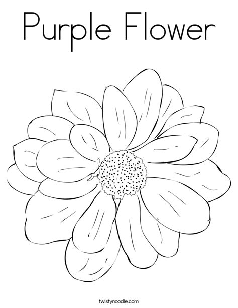 purple flower coloring page twisty noodle