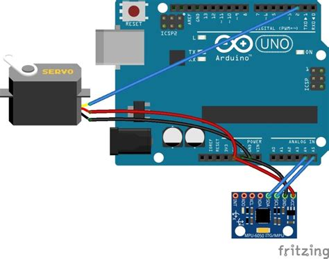 tutorial arduino mpu6050 how to control a servo with an arduino and mpu6050