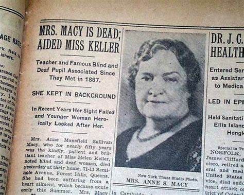 helen keller biography death anne sullivan macy death helen keller in 1936 newspaper