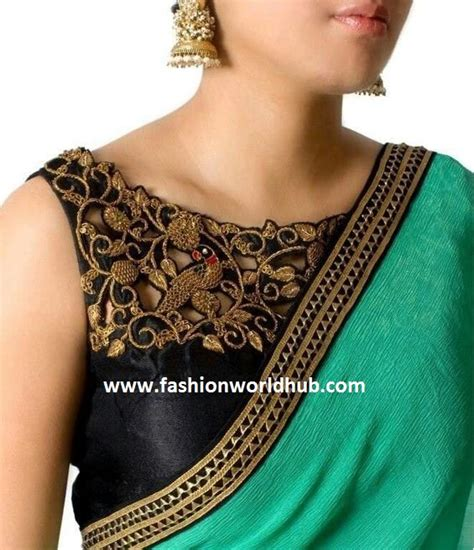 boat neck plain blouse trending plain sarees with designer blouse fashionworldhub