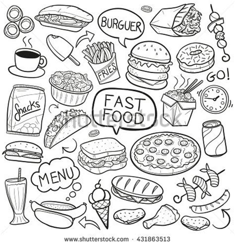 food doodle doodle stock images royalty free images vectors