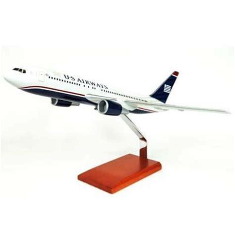 commercial model planes boeing b767 200 us airways 1 100 desktop wood model plane