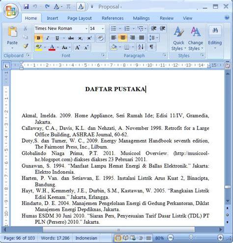 format penulisan daftar pustaka untuk skripsi merubah format daftar pustaka dalam ms word 2007