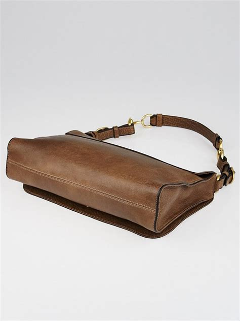 g ci leather brown gucci brown leather harness shoulder bag yoogi s closet