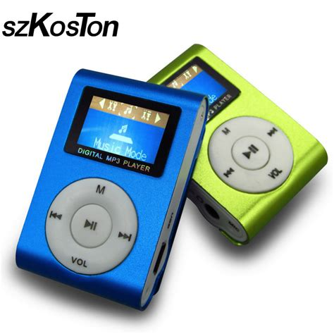 mp soungs sport mp3 player with lcd screen metal mini clip metal