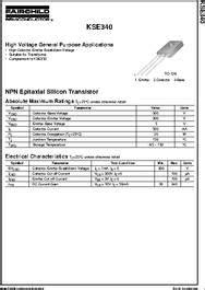 transistor kse340 kse340 datasheet npn epitaxial silicon transistor