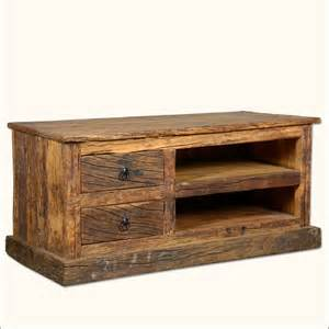 Rustic Tv Console Table Reclaimed Wood Rustic Railroad Ties Tv Stand Media Console Entertainment Center Ebay