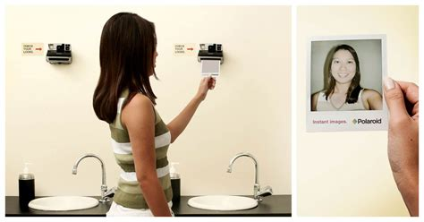sex in bathroom hidden camera see yourself instantly the polaroid picture mirror design