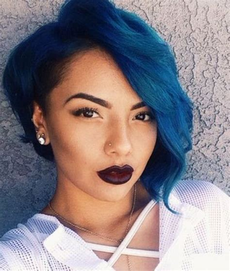 Blue New Hairstyle by Stunning Black Hairstyles 2016
