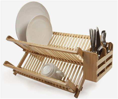 Dish Rack Organizer by Shop At The E Store Bamboo Dish Rack Utensil Holder