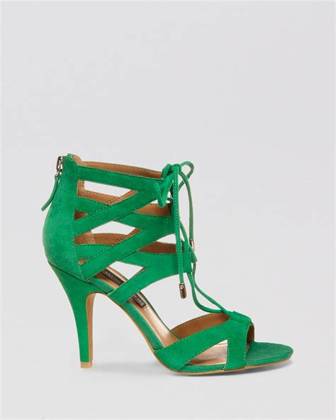 green high heel sandals steven by steve madden open toe sandals gingir high heel