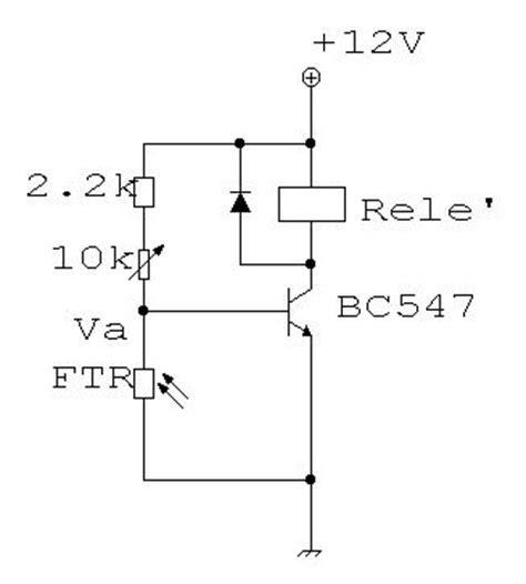 funzionamento transistor bc547 hobbytron progetto di un interruttore crepuscolare ultra semplice