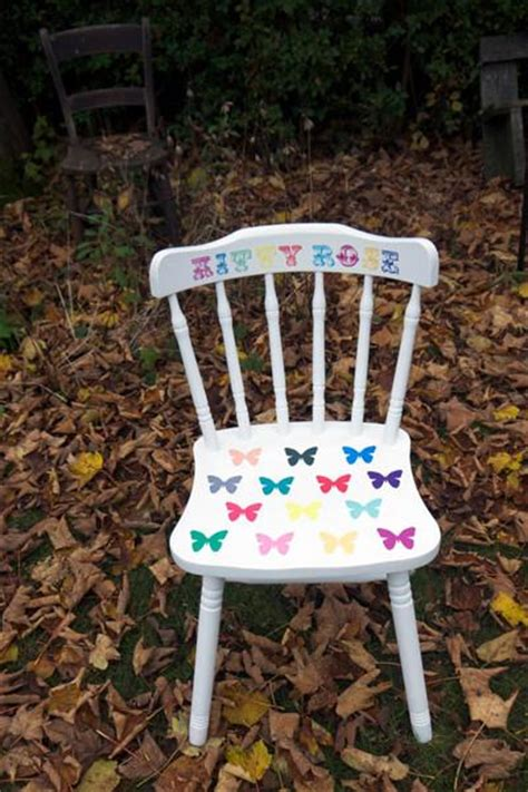 Childs Wooden Chair Personalised - child s children s upcycled wooden vintage chair with