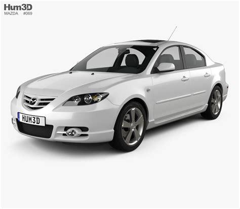 mazda sedan models mazda 3 sedan s 2005 3d model hum3d