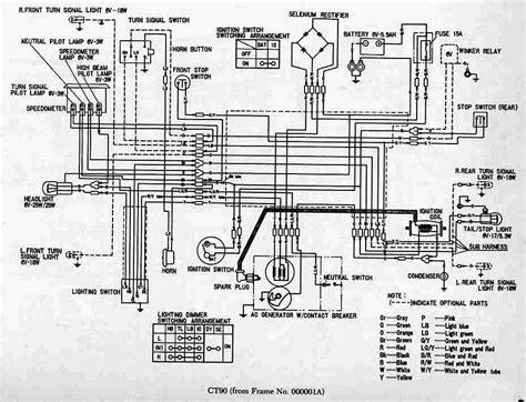 complete circuit diagram complete wiring diagram of honda ct90 trail circuit