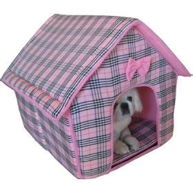 pink dog house bed pink dog bed