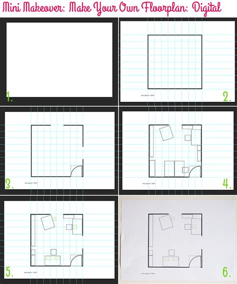 create a floorplan mini makeover make your own floorplan style for a happy