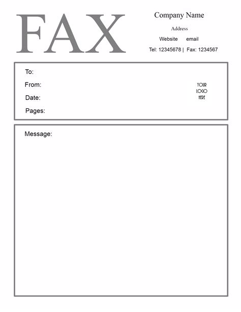 layout fax word free fax cover letter template
