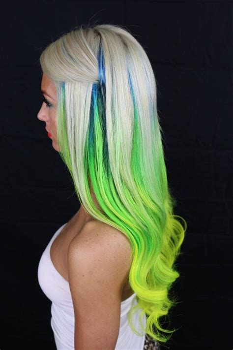 hairstyles with streaks of color 56 best dyed hair streaks of color images on pinterest