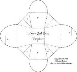Takeout Box Template by Mirkwood Designs Take Out Box Template