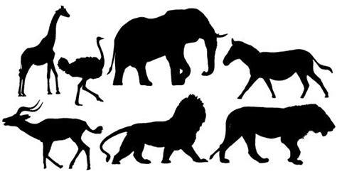 Banner Safari Hewan afrikaanse dieren silhouetten gratis vector clip arts gratis illustraties clipartlogo