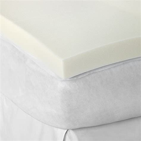 bed bath and beyond mattress topper therapedic 174 3 inch memory foam mattress topper bed bath