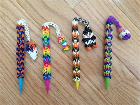 these are the rainbow loom pencil dangles that i made