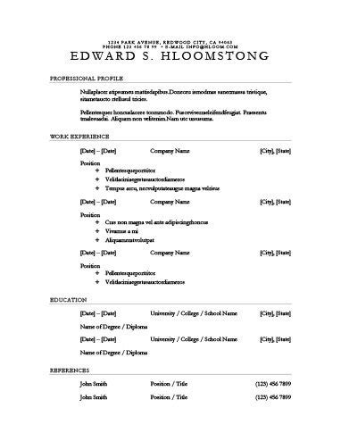 performance resume template 30 basic resume templates