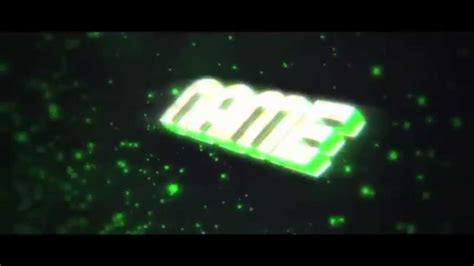 green 3d intro template cinema 4d after effect free