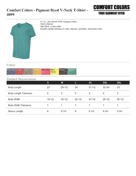 comfort colors sweatshirt sizing comfort colors 4099 pigment dyed v neck t shirt 5 88