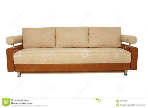 background sofa beige sofa isolated on white background stock photo