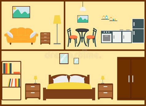home interior design vector home interior design stock vector illustration of