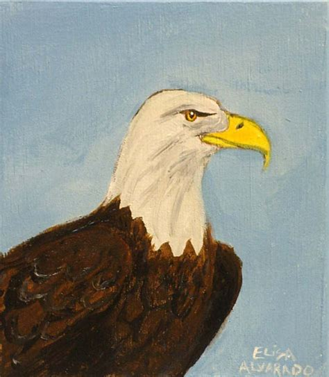 acrylic painting eagle bald eagle painting original acrylic painting on by