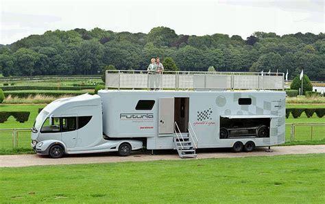Luxury Caravans | futuria sports spa is a motorhome with a yacht like roof