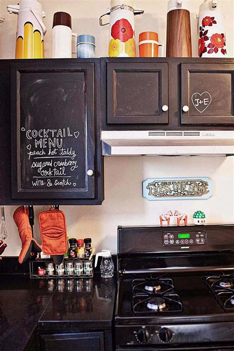 chalkboard paint in kitchen modern small kitchen with chalkboard paint cabinet
